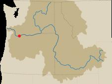 Boneville Dam map
