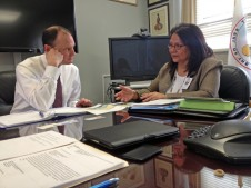 During a recent CRITFC delegation to Washington DC, CRITFC chairwoman Kat Brigham (Umatilla) met with Assistant Secretary of Indian Affairs Kevin Washburn.