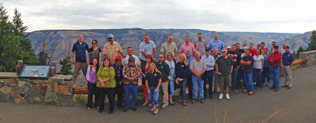 The tour group at the Joseph Creek overlook in northeast Oregon