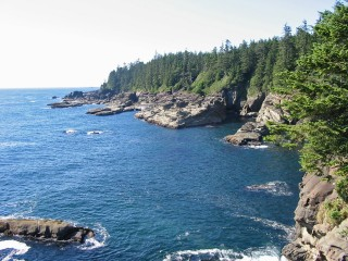 The western coast of Vancouver Island in British Columbia, one of the ocean fishing areas that is regulated by the Pacific Salmon Treaty.