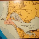 The Columbia River bar and undersea map. Photo from Tarra's Travels blog.