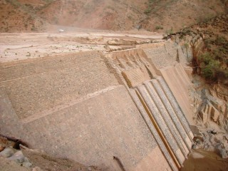 The Denadai Dam in the African nation of Eritrea. Photo by Adriano de Vito from Google Maps.