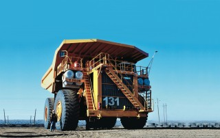 The Liebherr T-282B, the largest dump truck in the world.